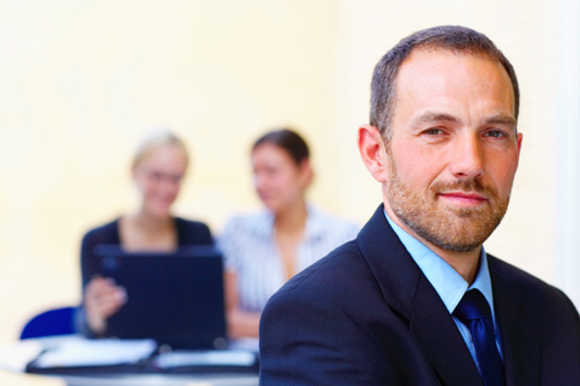 Small Business Lawyer Man Smiling